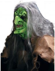 Halloween Sumpfhexen-Maske mit Schminke für Erwachsene