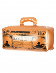 Aufblasbares, goldenes Radio