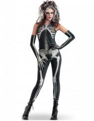 Gruseliges Skelett-Kostüm für Damen