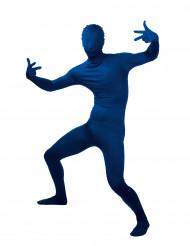 Blaues hautenges Kostüm für Erwachsene