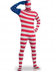 Hautenges USA-Flaggen-Kostüm für Erwachsene