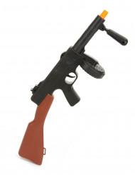 Gangster-Maschinengewehr Spielzeug für Fasching schwarz-braun