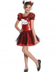 Rotes Hello Kitty™-Kostüm für Mädchen
