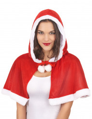 Weihnachtsfrau-Umhang mit Kapuze