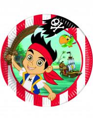 8 Pappteller - Jake und die Nimmerland Piraten™