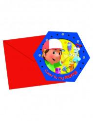 6 Einladungskarten Meister Mannys Werkzeugkiste™