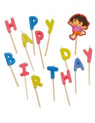 Dora™ Happy Birthday Kerzen