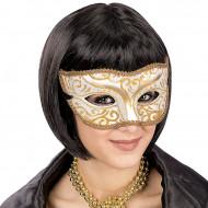 Venezianische Augenmaske mit goldenem Schnörkel für Erwachsene