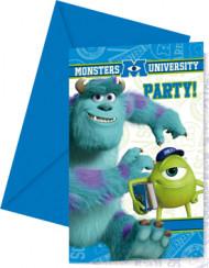 6 Einladungskarten mit Umschlag Monster AG™