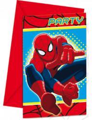 6 Einladungskarten Spiderman™