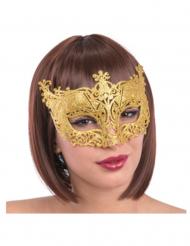 Venezianische Augenmaske in Gold für Erwachsene