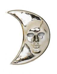 Silberne Mond-Maske für Erwachsene