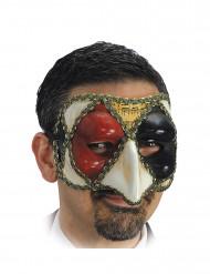 Venezianische Harlekin-Halbmaske für Erwachsene