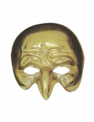 Goldene Halbmaske mit gekrümmter Nase für Erwachsene