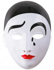 Pierrot-Maske für Erwachsene