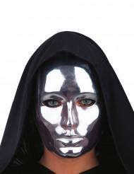 Chromfarbene Maske für Erwachsene silber