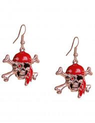 Totenkopf-Ohrringe für Erwachsene