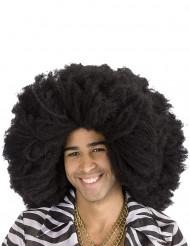 Schwarze Afro-Perücke für Erwachsene