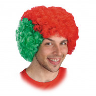 Portugal Fan-Perücke für Erwachsene