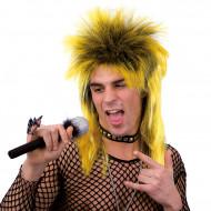 Gelbe Punk-Perücke für Erwachsene