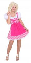 Dirndl Kostüm pink weiß kariert