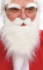 Bart, Schnauzbart und Augenbrauen in Weiß für Erwachsene