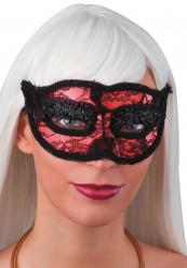 Rote Spitzen-Augenmaske für Erwachsene