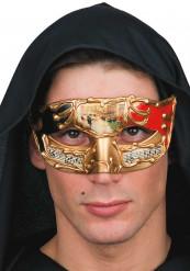 Rote venezianische Maske mit Partition für Erwachsene