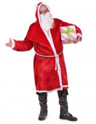 Erwachsenen-Kostüm Weihnachtsmann Mantel mit Gürtel und Bart