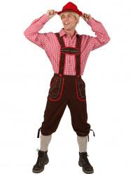 Latzhose Bayern für Herren braun