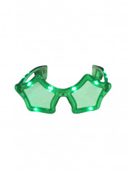 Grüne LED Sternen-Brille