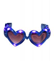 Blaue LED-Brille in Herzform