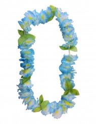Hawaii Halskette aus blauen Blumen