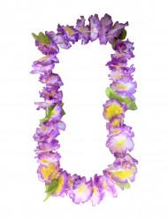 Hawaii Halskette aus violetten Blumen