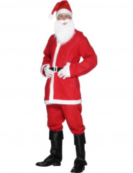 Herrenkostüm Weihnachtsmann in Filzoptik
