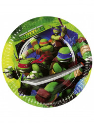 8 Ninja Turtles™ Pappteller groß