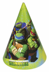 6 Partyhüte - Ninja Turtles™