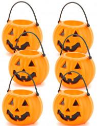 6 Kürbisse Set Halloween