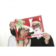 Photobooth Weihnachts-Set Kiss me