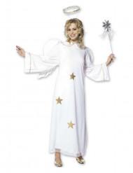 Engelskostüm mit Sternen für Damen