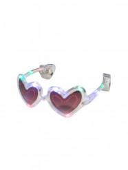 Transparente LED-Brille in Herzform