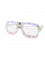 Transparente LED-Brille