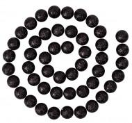Girlande schwarze Glitzerkugeln