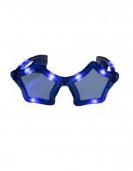 Blaue LED-Brille in Sternform