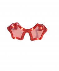 Rote LED-Brille in Sternform