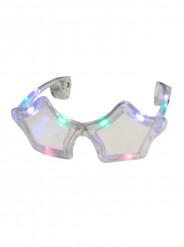 Transparente LED-Brille in Sternform