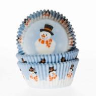 Muffin Förmchen Schneemann