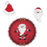 Cupcake-Förmchen und Fähnchen Weihnachten
