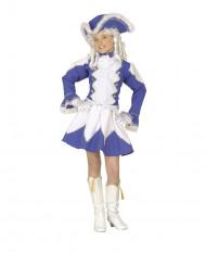 Blaues Tanzmariechen Kostüm für Mädchen