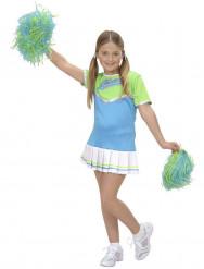 Blaues Pompom-Girl-Kostüm für Mädchen